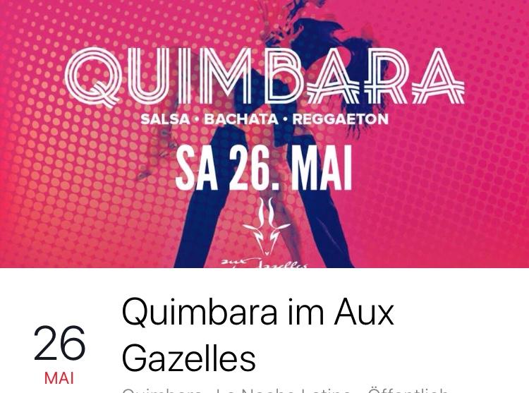 "Quimbara ""La Noche Latina"" Salsa & Bachata Party am 26.05.18, ab 21:30 Uhr"