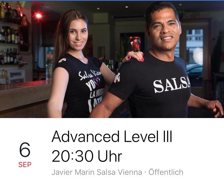 Advanced Level III ab Do.,06.09.18  20:30 Uhr Manolos