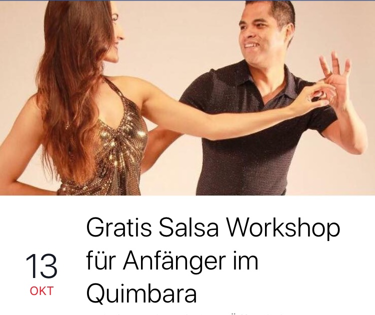 Gratis Salsa lernen für Anfänger am Samstag, den 13.10.18 ab 20:30 Uhr im Quimbara
